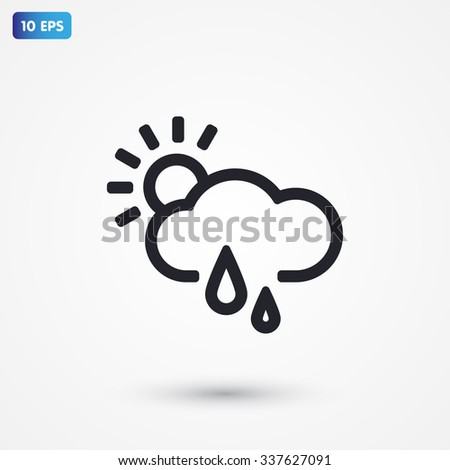 weather . line vector icon - stock vector