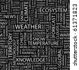 WEATHER. Seamless vector pattern with word cloud. Illustration with different association terms. - stock vector