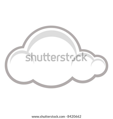Weather symbol of a raincloud - stock vector