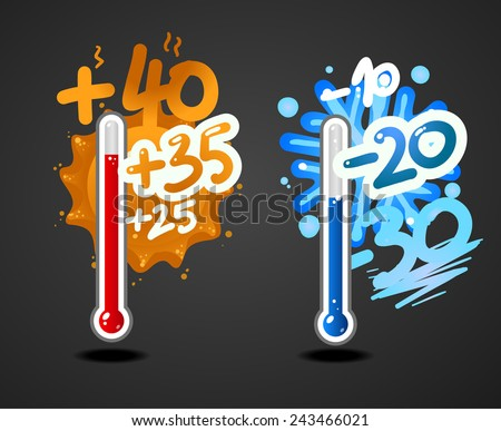 weather thermometer - stock vector