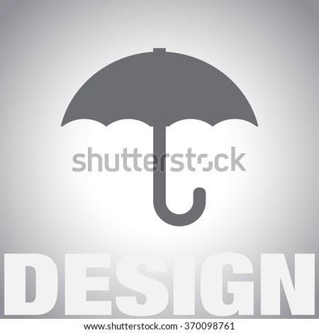 weather umbrella vector icon