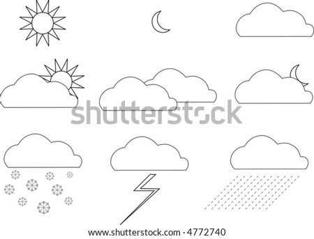 weather vector icons - stock vector