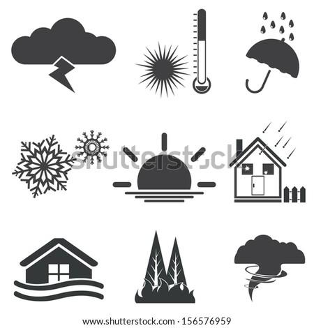 Weather. Vector set - stock vector