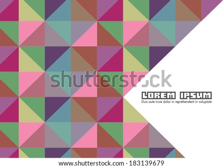 Weaving pattern cover design template