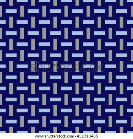 Weaving seamless pattern background; blue color. - stock vector