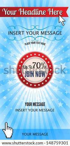 Web Ads Banners - stock vector
