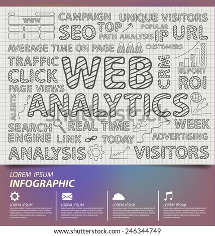 Web analytics vector illustration. - stock vector