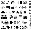 Web and communication icons // Basics - stock vector