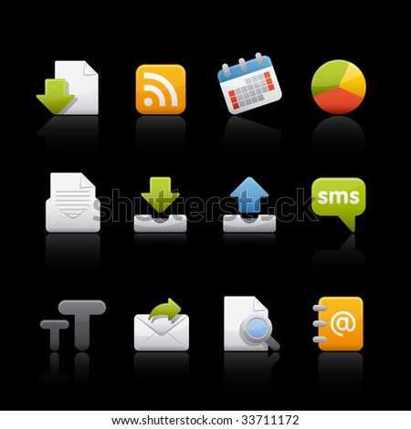 Web and Internet Icon Set for multiple applications. In Adobe Illustrator EPS 8. - stock vector