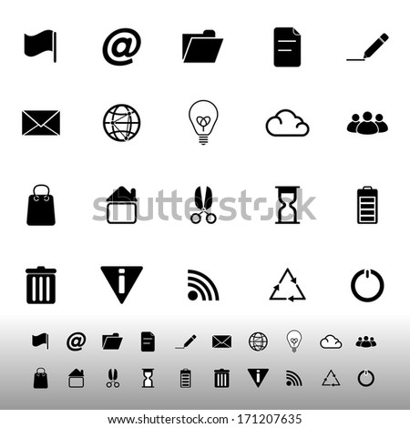 Web and internet icons on white background, stock vector