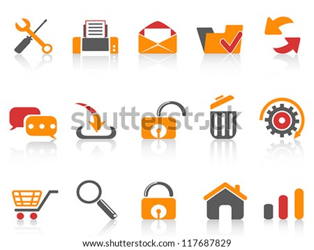 web and internet icons set - stock vector