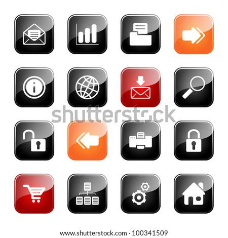 Web and Internet- professional icons for your website, application, or presentation, eps10 - stock vector