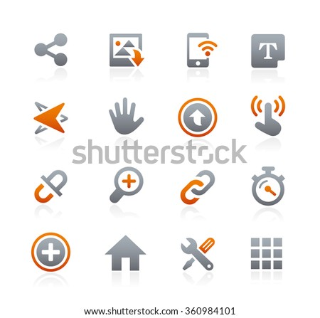 Web and Mobile Icons 10 // Graphite Series - stock vector