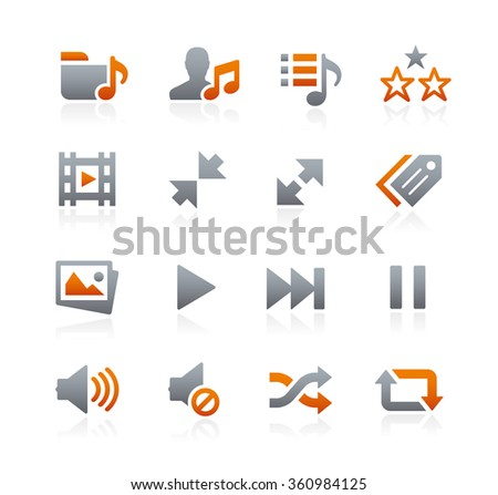 Web and Mobile Icons 7 // Graphite Series - stock vector
