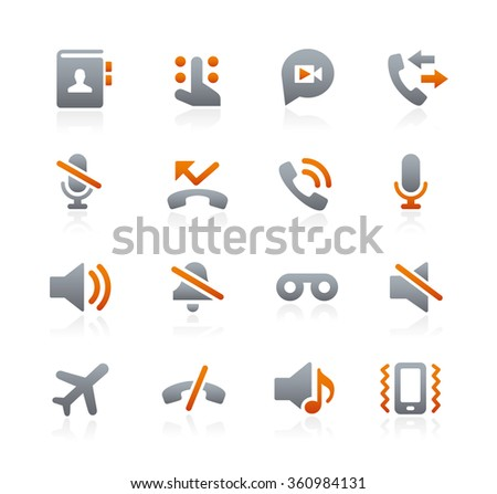 Web and Mobile Icons 1 // Graphite Series - stock vector
