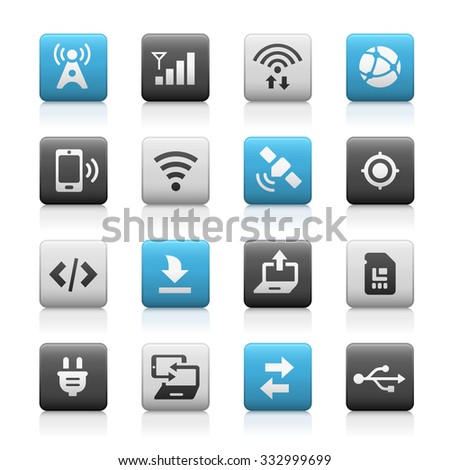 Web and Mobile Icons 6 // Matte Series - stock vector