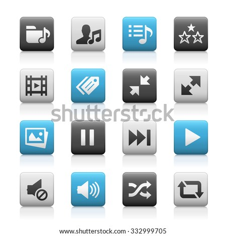 Web and Mobile Icons 7 // Matte Series - stock vector