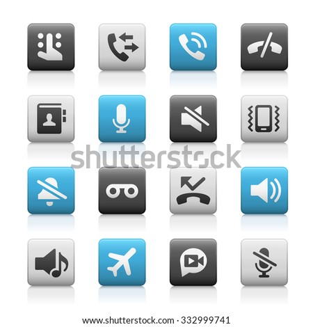 Web and Mobile Icons 1 // Matte Series - stock vector