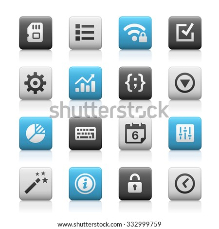 Web and Mobile Icons 4 // Matte Series - stock vector