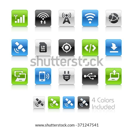 Web and Mobile Icons 6 / The file Includes 4 color versions in different layers.