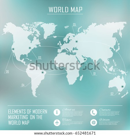 Web mobile interface background corporate website stock vector web and mobile interface background corporate website design world map flight routes gumiabroncs Choice Image