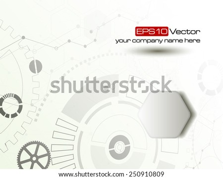 Web and mobile interface graphic template. Corporate website design. Media background. Editable. Industry and technology concept. Vector illustration - stock vector