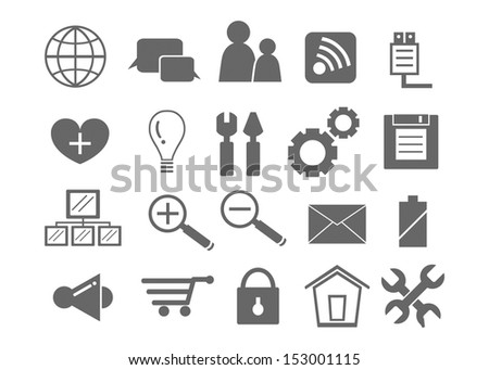 web and office icons - stock vector