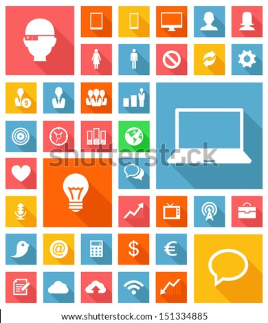 Web and Soft Icon set - stock vector