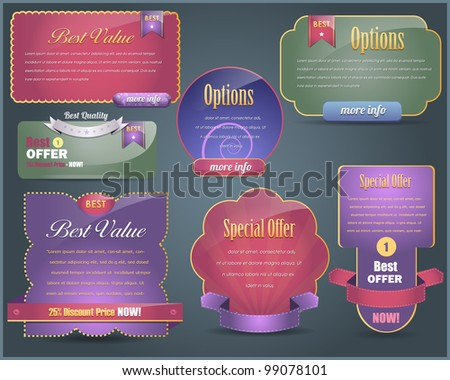 Web banner Design vector set - stock vector