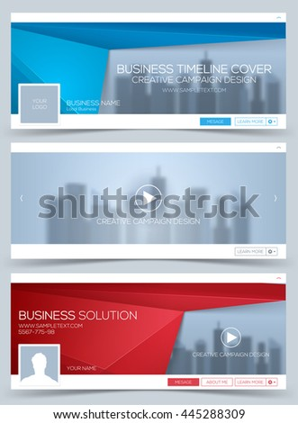 Web Banner, Header Layout Template. Creative timeline cover. Web Banner. - stock vector