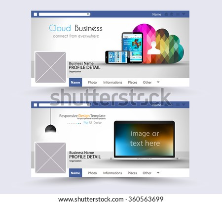 Web Banner or Website Header for page or diary covers. Social Media Advertising business campaign banners with space for your slogan,images and text. - stock vector