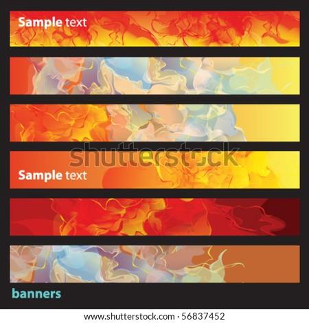 web banner set - stock vector
