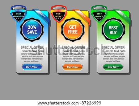 Web banner set.Vector illustration - stock vector