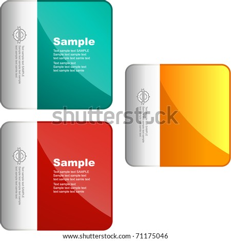 Web banner - vector tags. Merchandise element set for sale. Variation color template. - stock vector