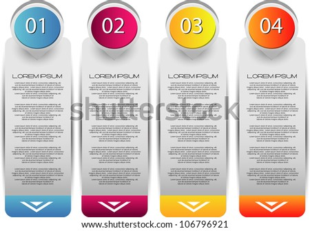 web banners with different choice option - stock vector