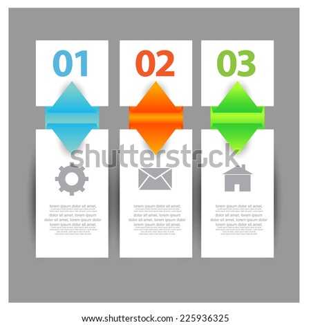 Web Banners with info-graphics number options. vector
