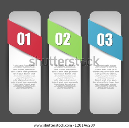 web banners with number option