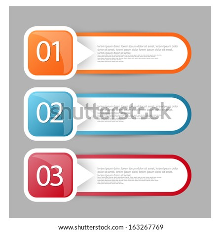 web banners with number options - stock vector