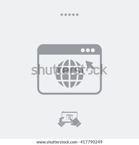Web browser concept icon - stock vector