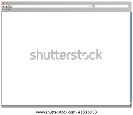 web browser in vector mode - stock vector