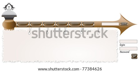 web browser Log in - stock vector