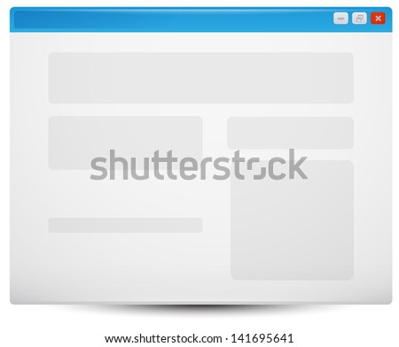 web Browser Template - stock vector