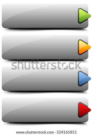 Web button - stock vector