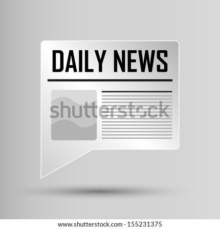 Web Button - Daily News - stock vector