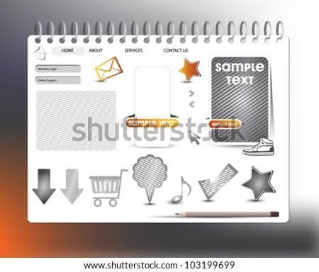 WEB BUTTON SITE - stock vector