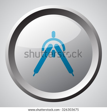 Web button with blue Drafting Compass icon