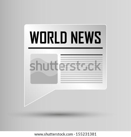 Web Button - World News - stock vector