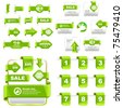 Web buttons and website banners. Offer tag, coupon, label. Vector illustration. - stock photo