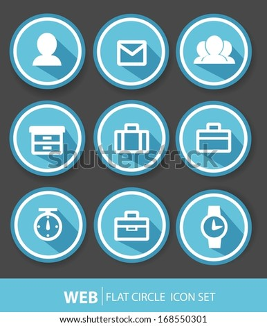 Web buttons,blue version - stock vector