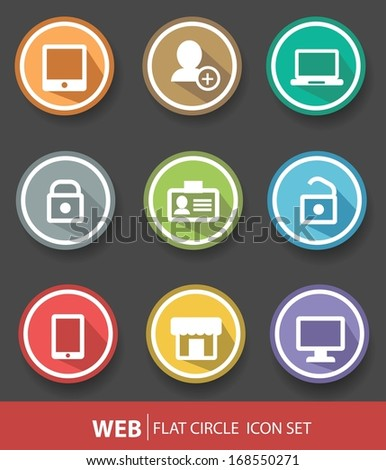 Web buttons,Colorful version - stock vector
